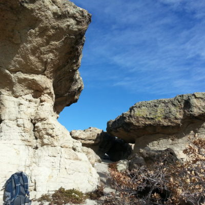Large rock formations on top