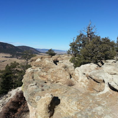 Views along the side of Spruce Mountain