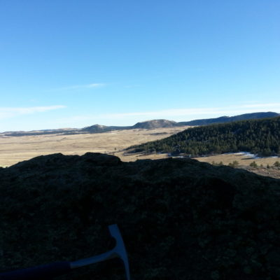 Spruce Mountain on the right
