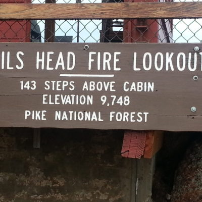 Sign at the lookout