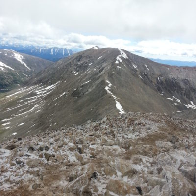 View of next summit - Mt Cameron