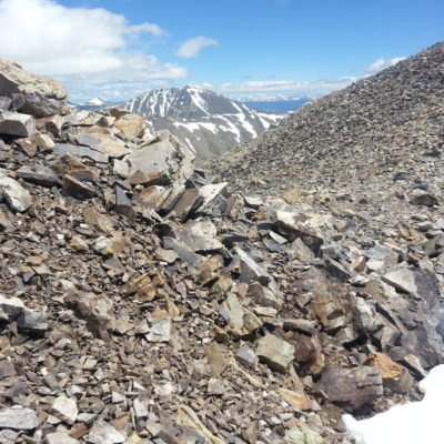 View of Quandary Peak on the way to Mt Cameron