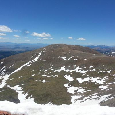 View of Mt Bross - the next destination