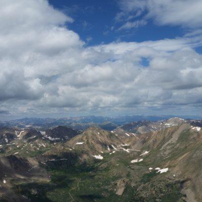 Mt Elbert summit view