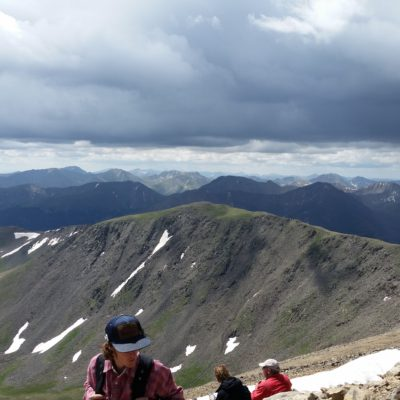 Looking at the ridge I had come from. View of South Elbert