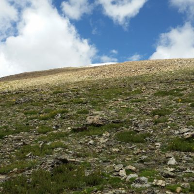 Heading down the South Elbert trail