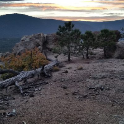 Windy Point at sunset