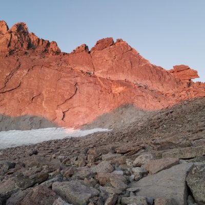 Alpenglow on the keyhole
