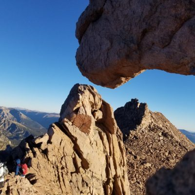 West side of the Keyhole looking north at Storm Peak
