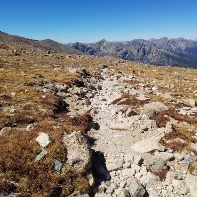 Longs Peak trail looking north into RMNP