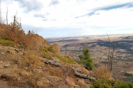 Heading north along the summit ridge of Mt Herman