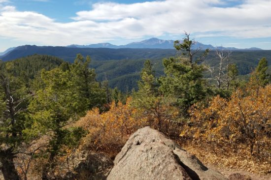 View of Pikes Peak from Mt Herman