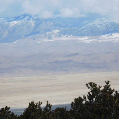 View of the dunes from the trailhead