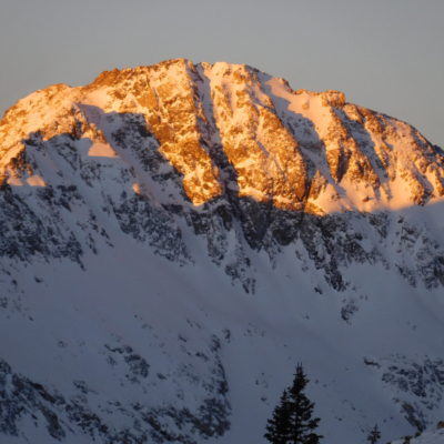 First light along the Quandary Peak trail