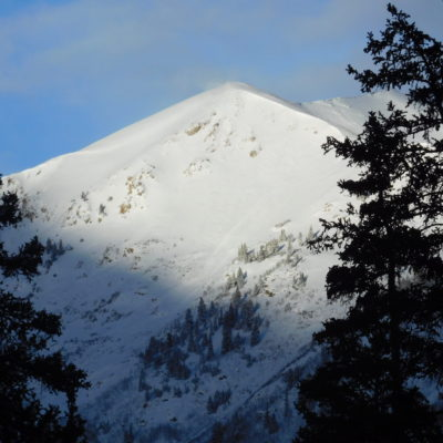 View of Sayres (13,748') from the trail