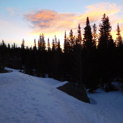 Sunrise on the Flattop Mountain trail