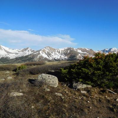 Views from the basin - Virginia Peak (center)