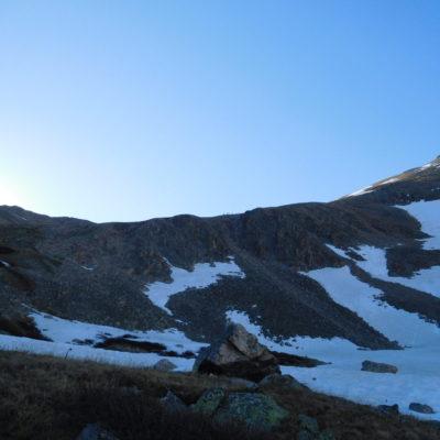 Hikers on the ridge