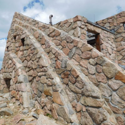 Stone structure near summit