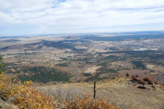 Mt Herman summit view east
