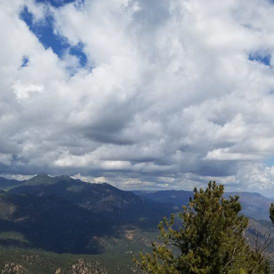 Summit view looking northwest