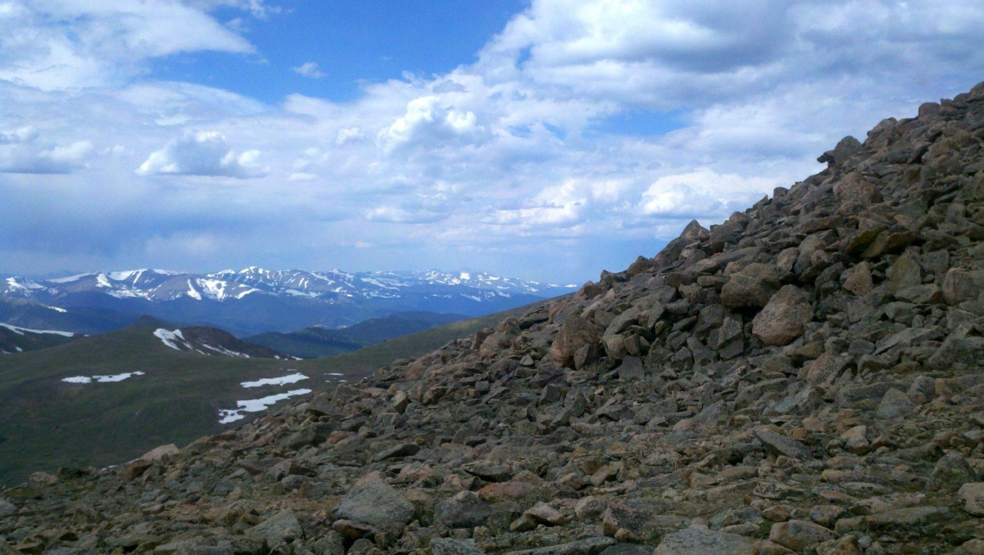 View from the shoulder of Mt Bierstadt