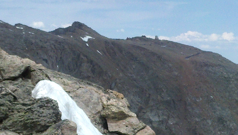 Mt Evans and the observatory