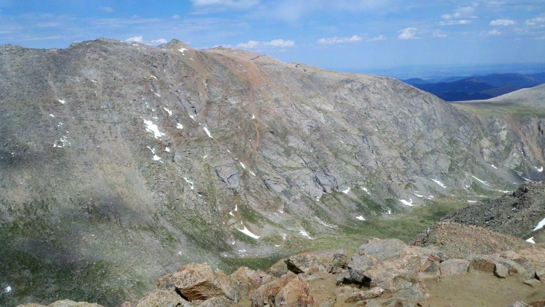View of Mt Evans and the observatory