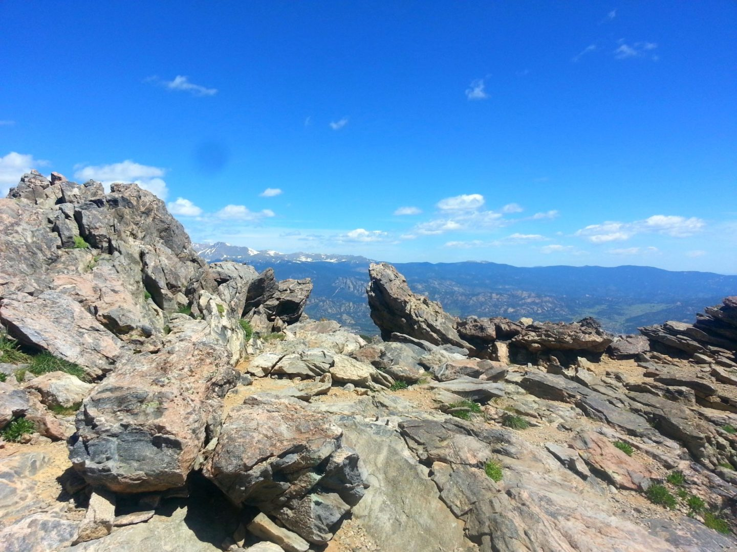 Twin Sisters summit outcropping
