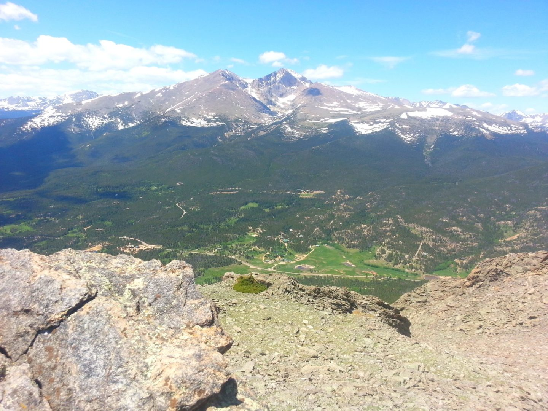 View of Longs Peak and Mt Meeker
