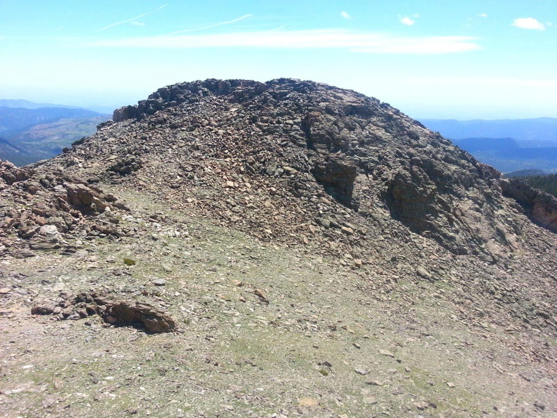 Twin summit - summit to summit view