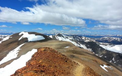 Mt Democrat (14,148′) , Mt Cameron (14,238′), Mt Lincoln (14,148′), and Mt Bross (14,172), Mosquito Range