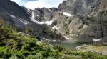 Sky Pond feeding Glacier Creek