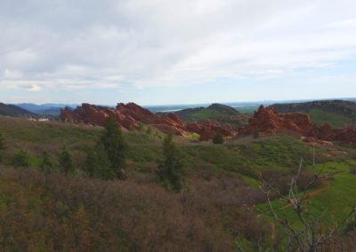 Red rock formations in the distance