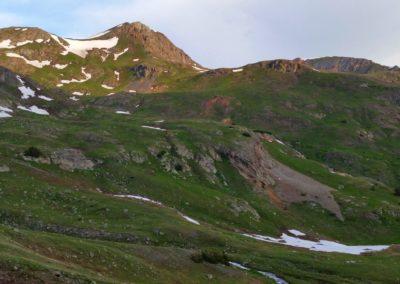 Early morning on the Handies Peak trail