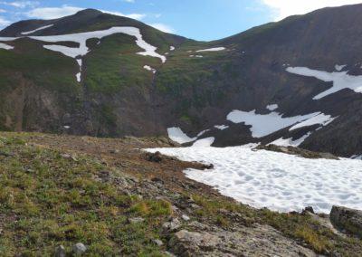Handies Peak on the left