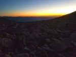 Boulder field at dawn