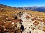 Longs Peak trail looking north