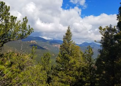 Looking NW towards Pikes Peak