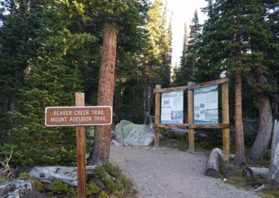 Tried the Mt Audubon trail first, but wind would be to strong to summit Mt Audubon
