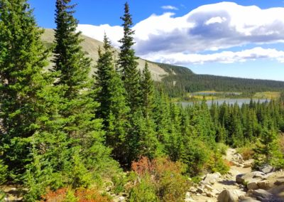 View of Mitchell Lake along the trail