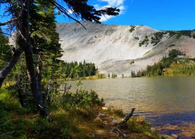 Mitchell Lake and part of Mt Audubon