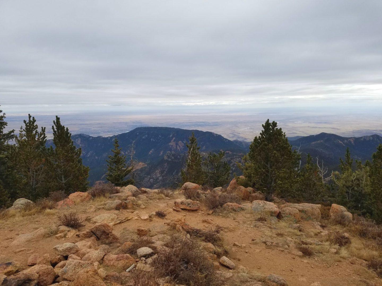 Summit view of Cheyenne Mountain