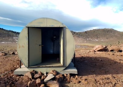 A shelter in Almagre Mountain's basin
