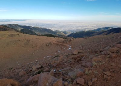 Looking down the trail on Almagre Mountain