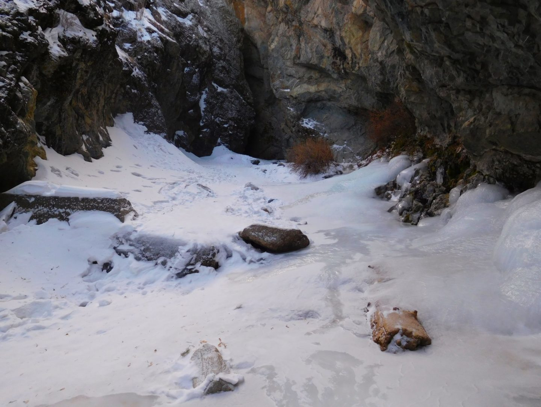 Walking over frozen run off