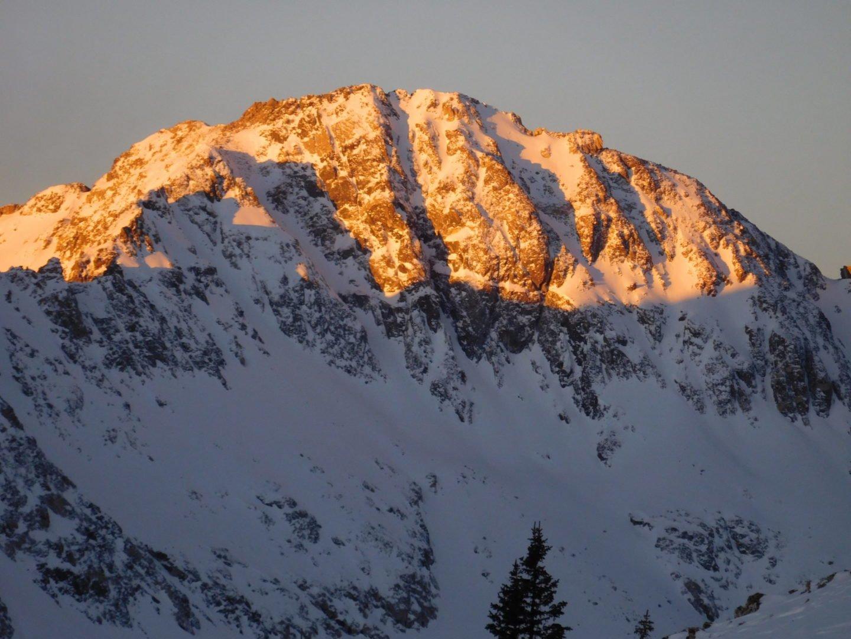 Sunrise along the Quandary Peak trail