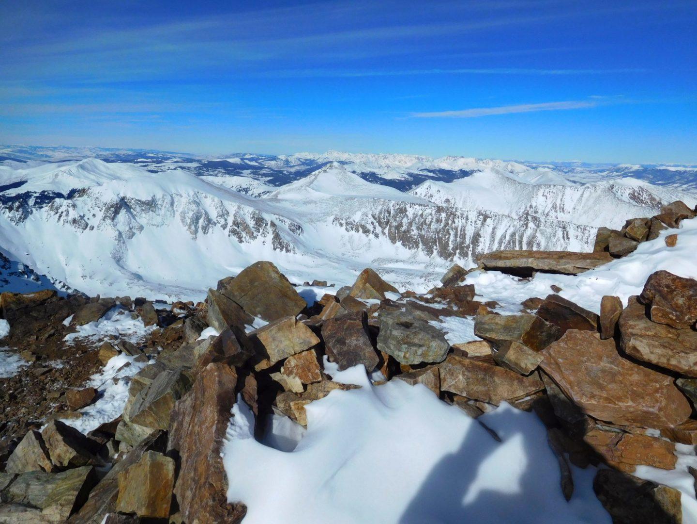 Windbreak on the summit