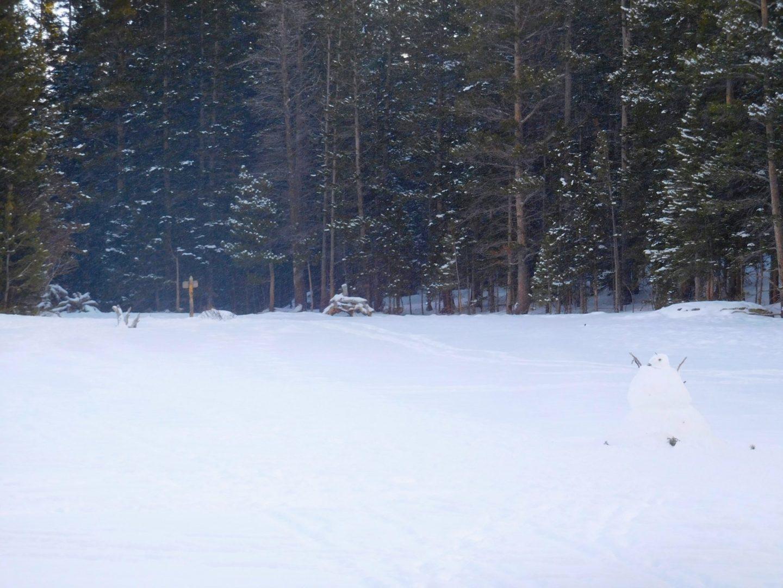 Snowman on Nymph Lake