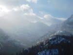 View of Longs Peak along the Dream Lake trail
